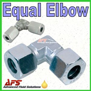 12S Equal Elbow Tube Coupling Union (12mm Compression Pipe Fitting)